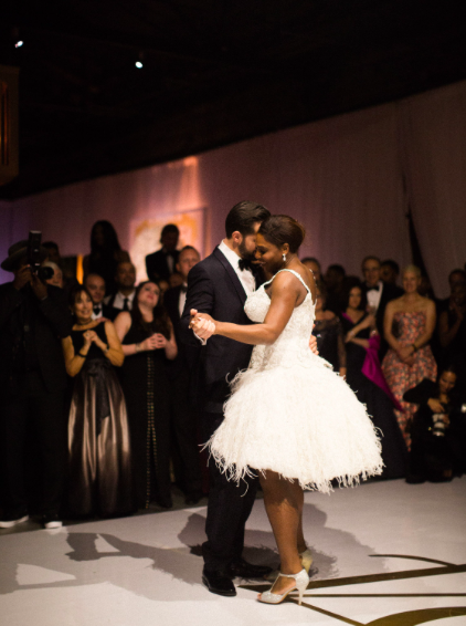 Serena Williams Alexis Ohanian first dance married 2017