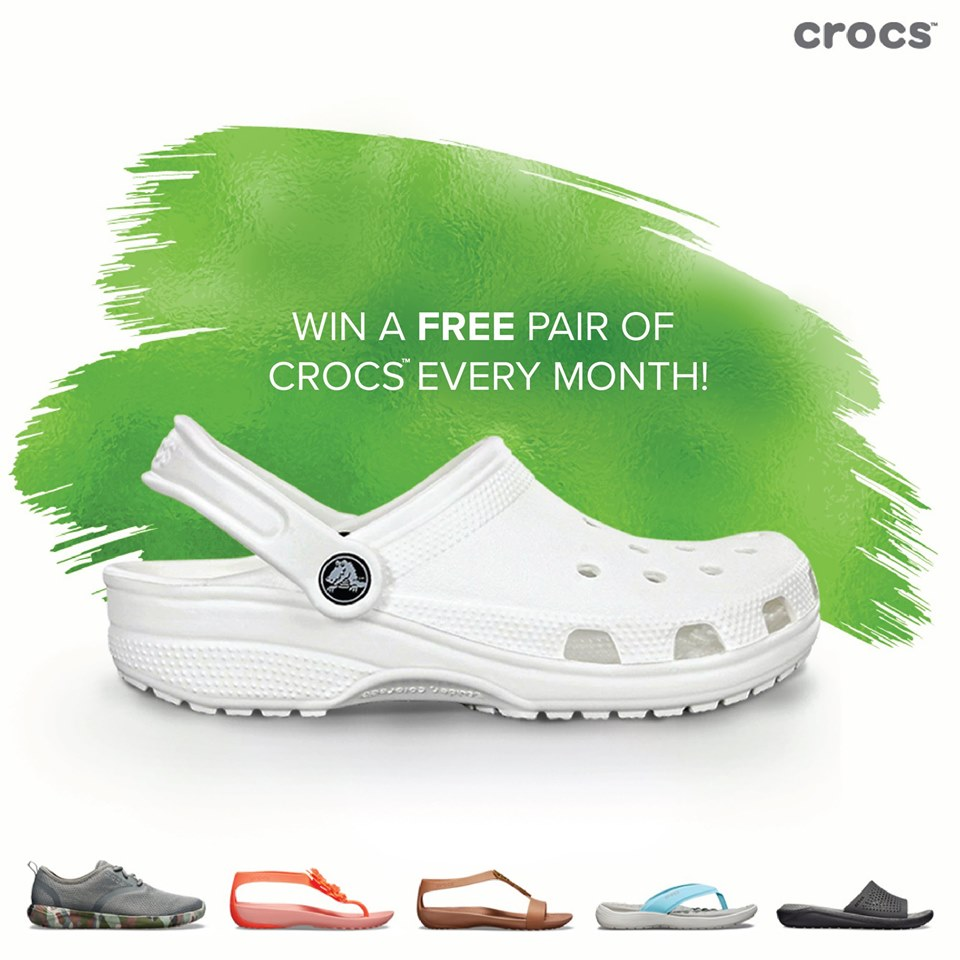FREE supply of Crocs for the rest of 2019 for you and your friend