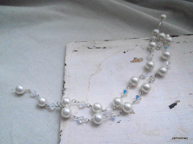naszyjnik ze srebra i pereł