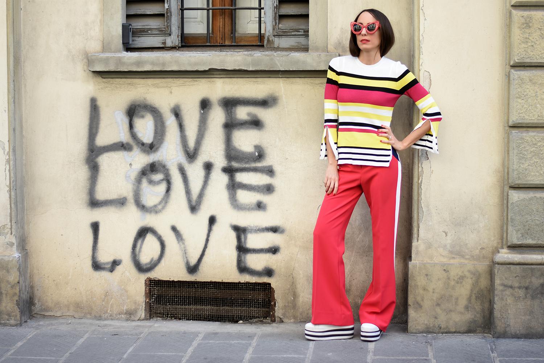 maglia righe multicolore