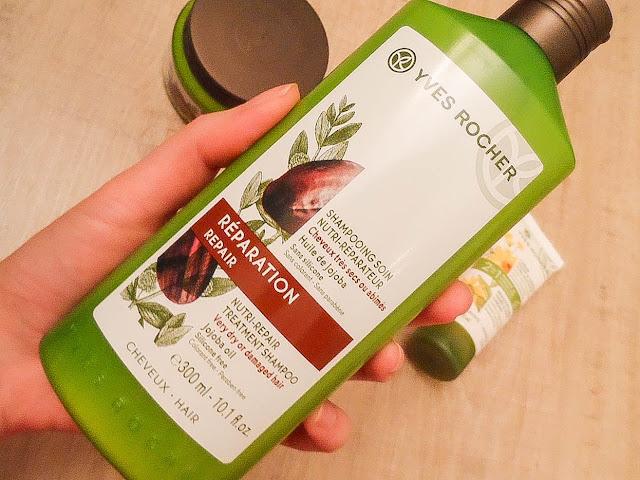 yves rocher yıpranmış saçlar için onarıcı şampuan