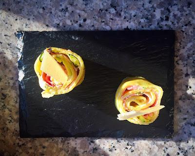 crepes robiola uova zucchina prosciutto