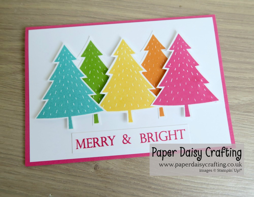Paper Daisy Crafting Merry And Bright Rainbow Christmas Trees