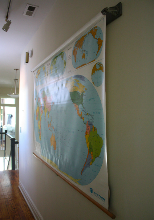 World History: Hanging Our School Map | 17 Apart