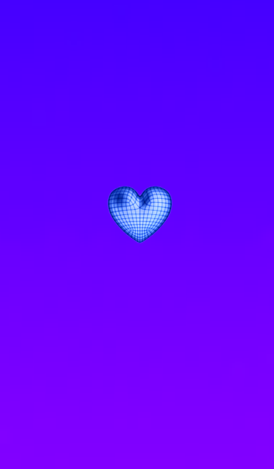 Wire Heart Blue Purple