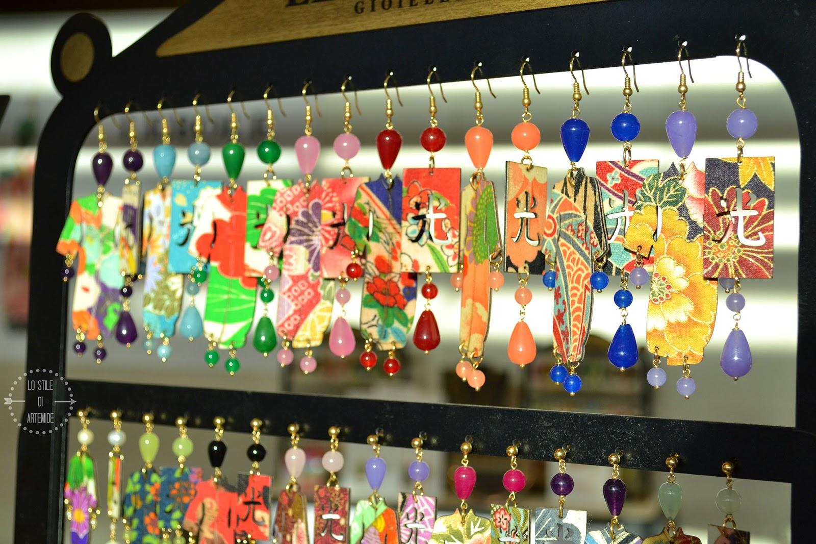 orecchini kimono