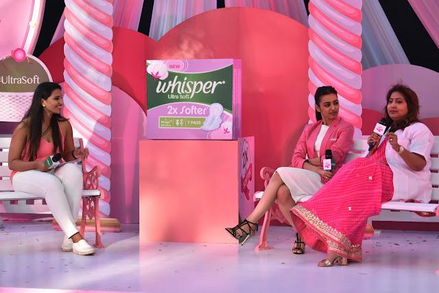 Radhika Apte Whisper Launch Ultra Soft
