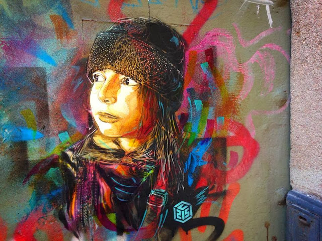 Parisian Stencil Artist C215 returns to Barcelona with a new series of Street Art Pieces. 4