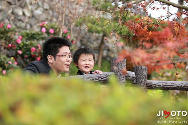 犬山成田山へ七五三の出張撮影