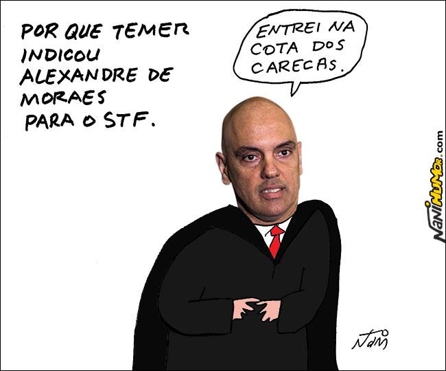Resultado de imagem para Alexandre Moraes charges