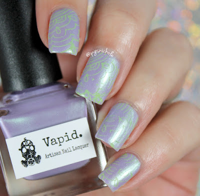 Vapid Lacquer + Octopus Party Nail Lacquer Stamping