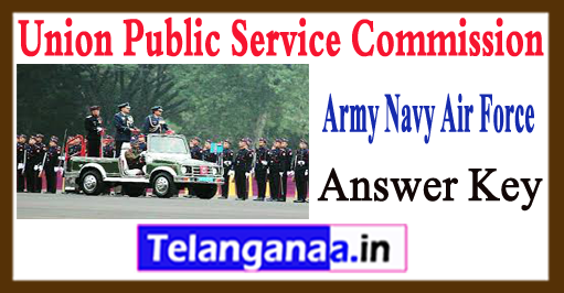 National Defence Academy 2 Answer Key 2017