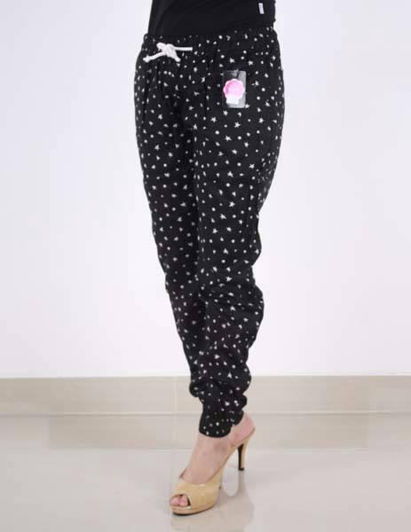 Model Celana Jogger Wanita Motif Polkadot Murah
