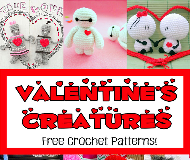 Free Valentine's Creatures Crochet Patterns