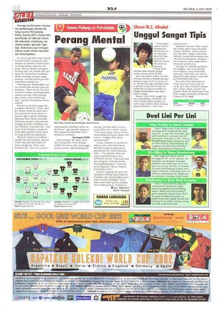 SEMIFINAL LIBM 2002: SEMEN PADANG VS PETROKIMIA PERANG MENTAL