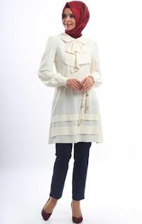 Baju kerja muslim sederhana tapi modis