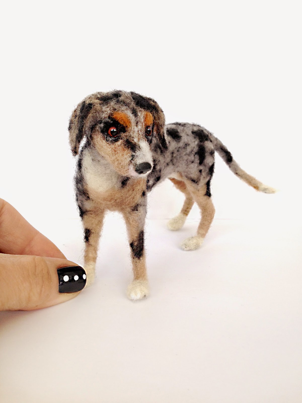 Facci designs custom needle felted miniature dog for Bj custom designs