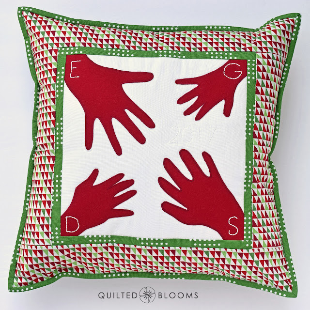 Quilted Blooms: Handprint Machine Applique Pillow ~ 12 Days of ... on home quilt design, home button design, home cross stitch design, home trim design, home pillow design, home sewing, home painting design, home print design, home art design, home inspiration design, home drawing design, home fashion design, home size, home paint design, home furniture design, home decorating design, home garden design, home kitchen design, home gardening design, home wallpaper design,