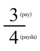 Matematikte 3/4'ün pay ve paydası
