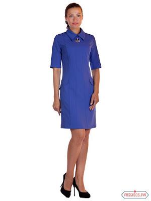vestidos color azul midi