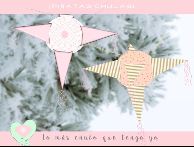 piñatas decoración navidad imprimibles freebies