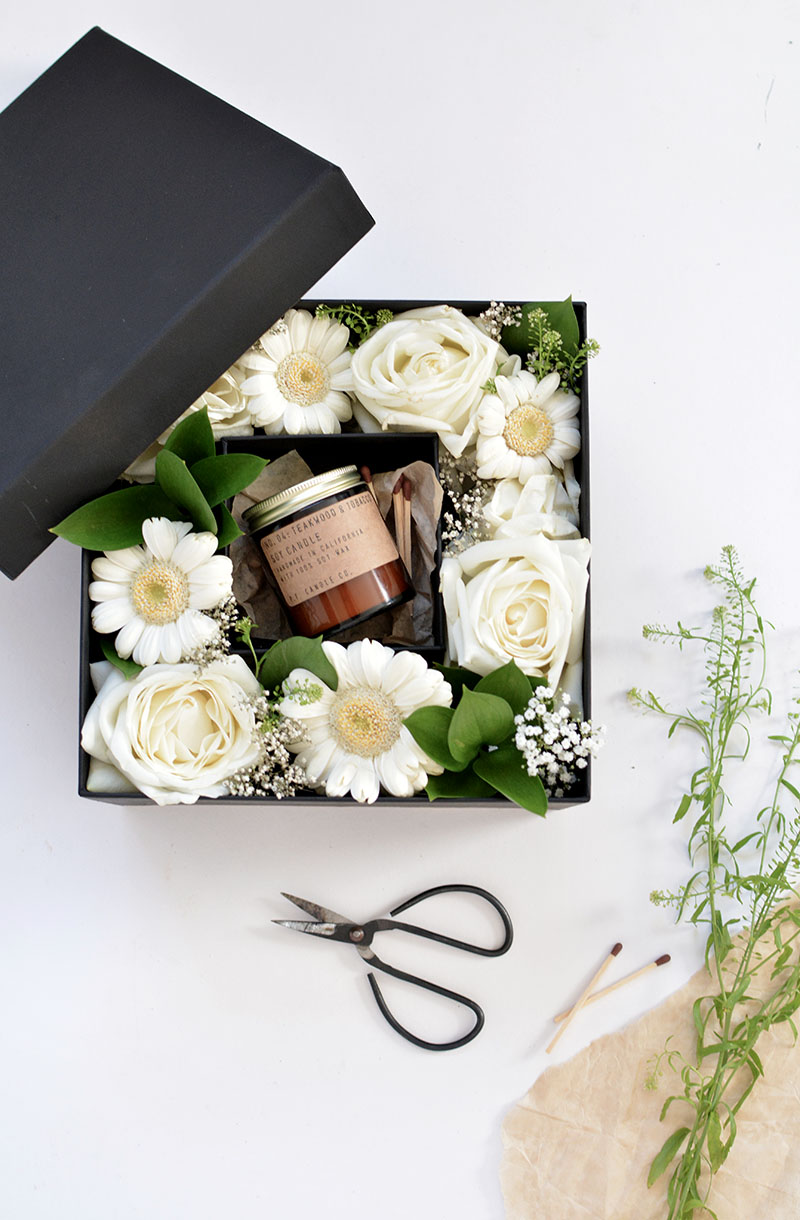 Diy flower gift box burkatron diy boxed flowers tutorial izmirmasajfo