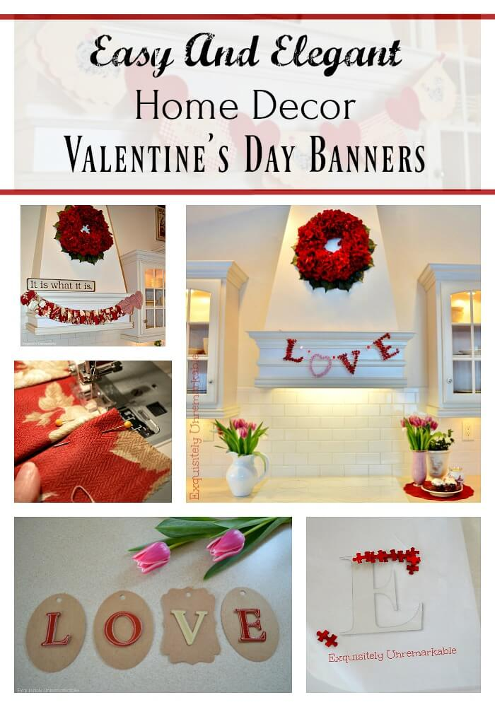 Easy And Elegant Valentines Day Banners