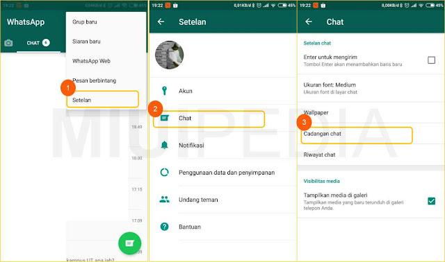 Cara Backup History Chat WhatsApp :