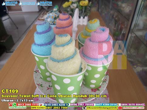 Souvenir Towel Soft Ice Cone Ukuran Handuk 30×30 Cm