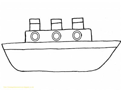 Mewarnai Gambar Kapal Laut - 7