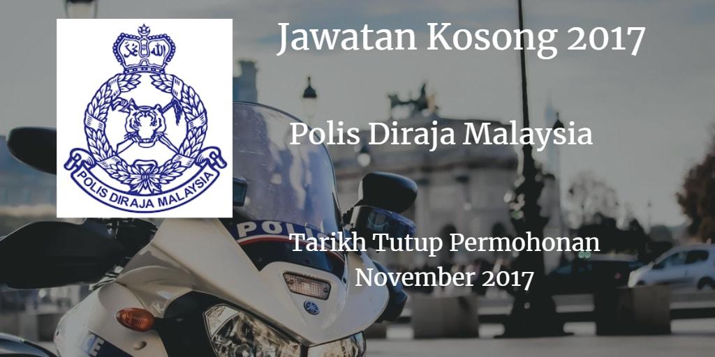 Jawatan Kosong PDRM November 2017