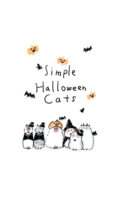 simple Halloween Cats