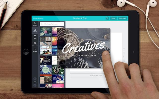 Vì thế Melanie nung nấu ý tưởng cho Canva - trang web thiết kế trực tuyến