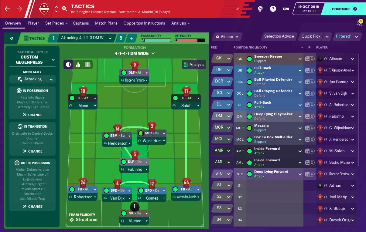 FM20 - Jurgen Klopp's 4-3-3 Liverpool Gegenpress Tactic | FM BLOG