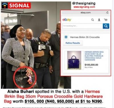Aisha Buhari's gold bag allegedly worth N40m causes social media upheaval
