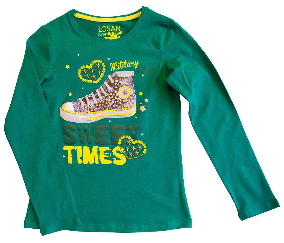 c178680160 Camisetas de Niña para Invierno.Nueva Camiseta Manga Larga para Niña de la  Colección Otoño-Invierno de la Marca Losan para Niña Junior de 8 a 16 Años.