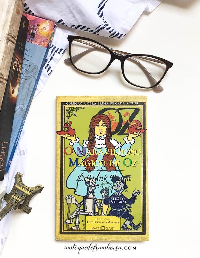 Livro O Mágico de Oz em uma edição de bolso da editora Martin Claret