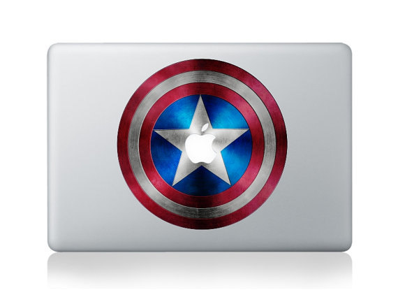 Captain America Shield MacBook Sticker