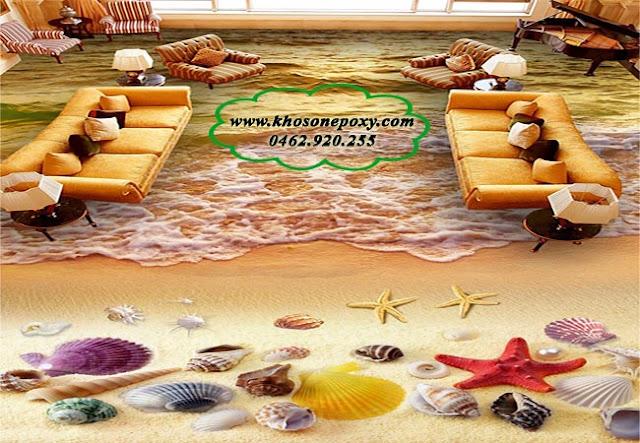 Sàn nhà 3D bằng sơn epoxy
