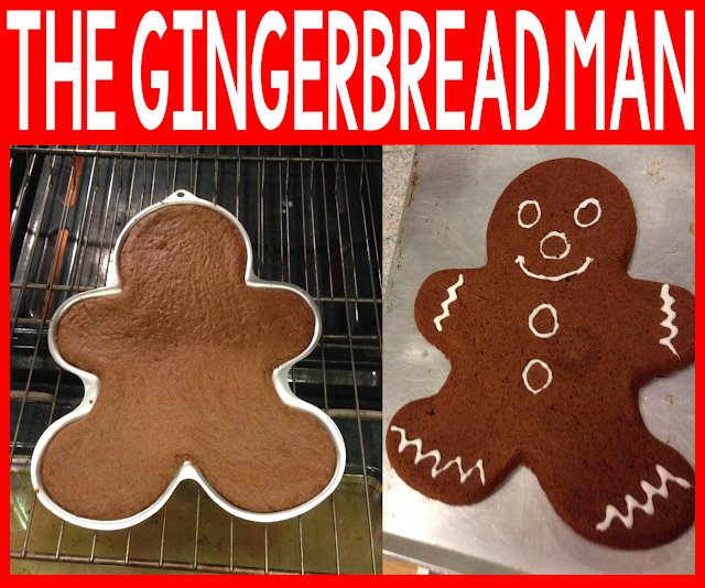 Gingerbread Man chase through the school.