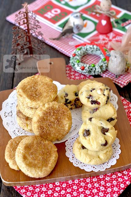 1-2-3 cookies cinnamon sugar chocolate chip cranberries