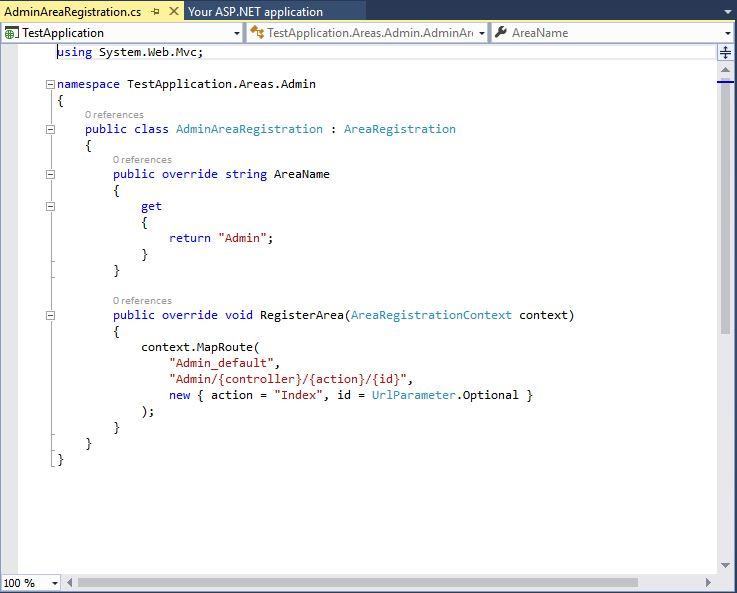 Areas in Asp Net MVC - MVC Arena (ASP Net)