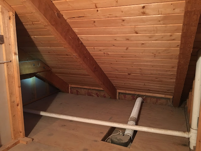 Exposing a vaulted attic ceiling