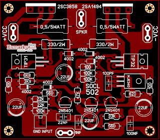 Layout Power amplifier Lapangan SOCL 502