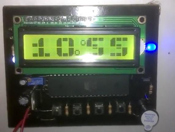 Đồng hồ lịch vạn niên hiển thị LCD 16x2 - BIG FONT - Dễ làm