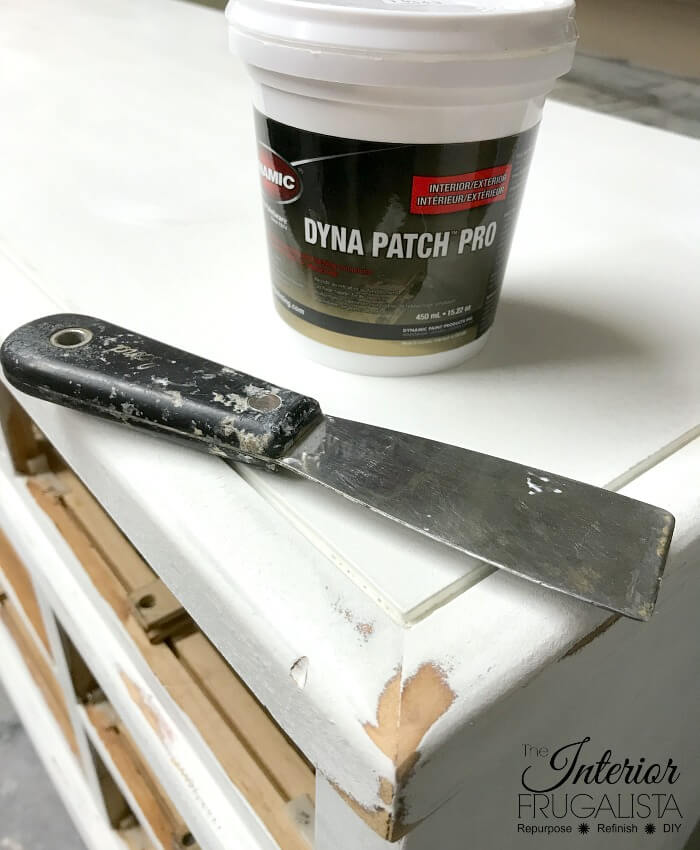 How To Prep Furniture For Chalk Paint - Fill The Holes!