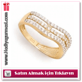 Sultan Altun 14 Ayar Altın Sıra Taşlı Yüzük