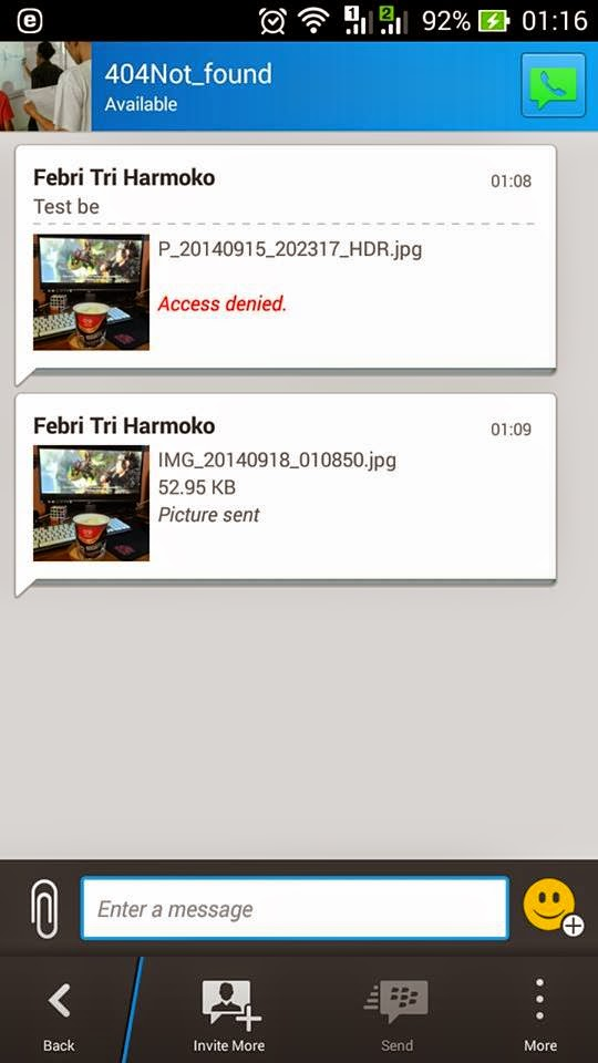 Cara Mengatasi Access Denied / Tidak Bisa Mengirim Gambar di BBM