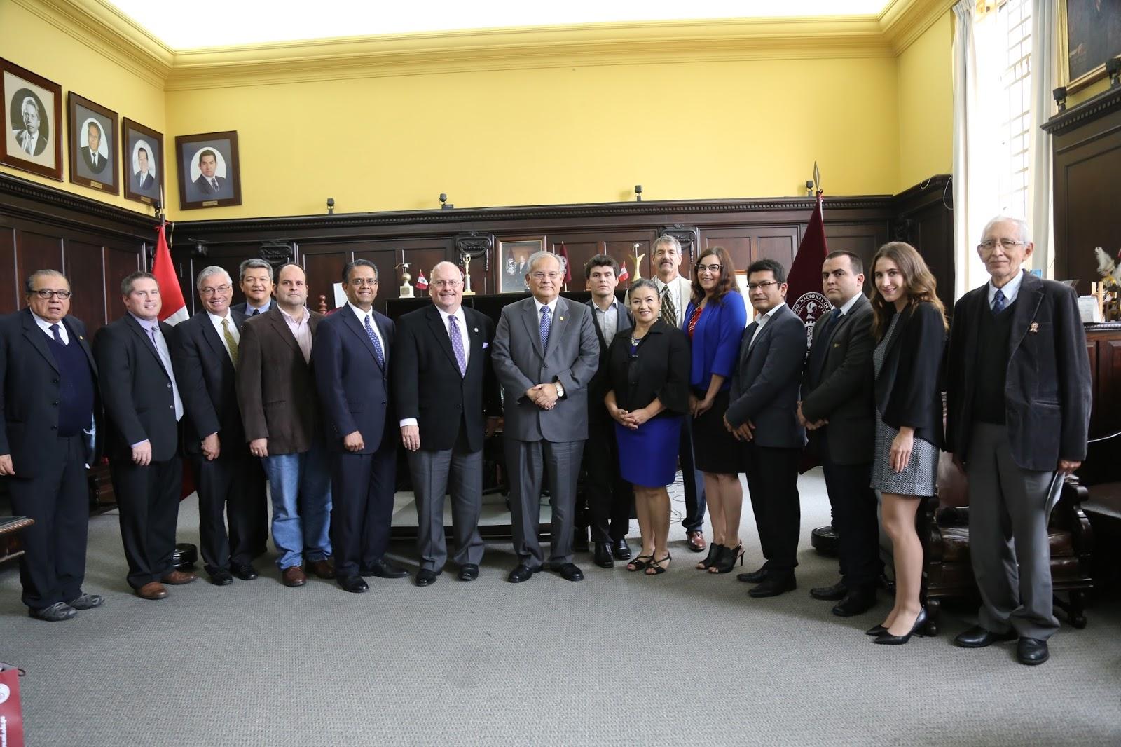 Delegación universitaria del Estado de Nevada visitó la UNI