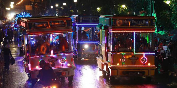 acara wisata bandung light festifal pada HUT kota Bandung